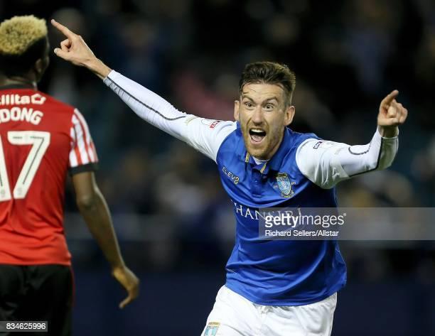 David Jones of Sheffield Wednesday celebrates during the Sky Bet Championship match between Sheffield Wednesday and Sunderland at Hillsborough on...