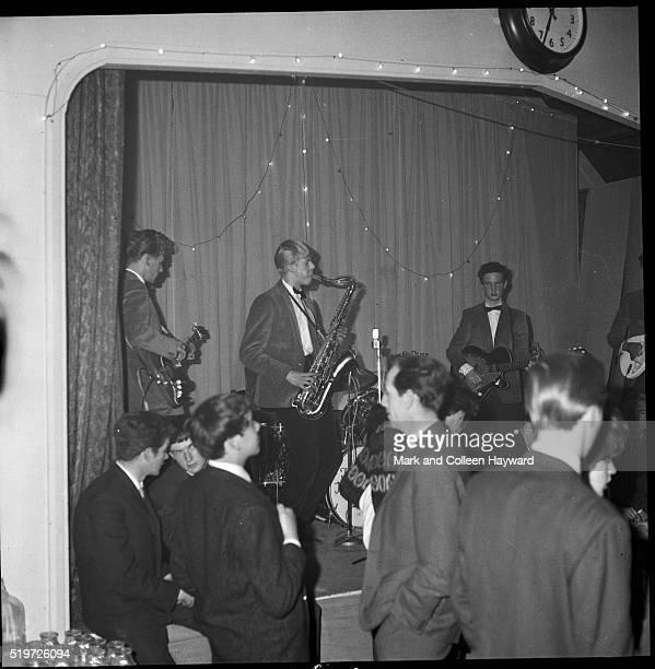 David Jones performs on stage with the Konrads Biggin Hill United Kingdom 1963