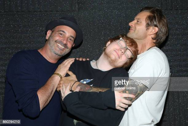David Kalt Ed Sheeran and Andrew Yonke appear at the Recording Academy Chicago Chapter Up Close Personal with Ed Sheeran on September 14 2017 in...