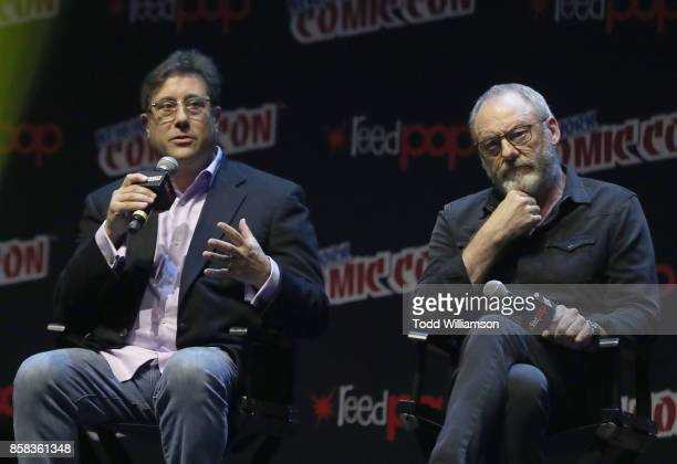 David Kantor and Liam Cunningham onstage at 'The World of Philip K Dick' The Man in the High Castle and Philip K Dick's Electric Dreams Panel at...