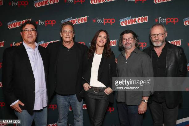 David Kantor Michael Dinner Isa Dick Hackett Ronald D Moore and Liam Cunningham attend 'The World of Philip K Dick' The Man in the High Castle and...