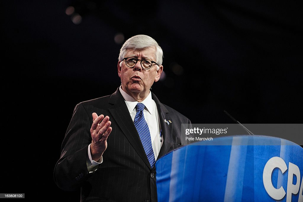David Keene, President of the National Rifle Association, speaks at the 2013 Conservative Political Action Conference (CPAC) March 16, 2013 in National Harbor, Maryland. The American Conservative Union held its annual conference in the suburb of Washington, DC to rally conservatives and generate ideas.