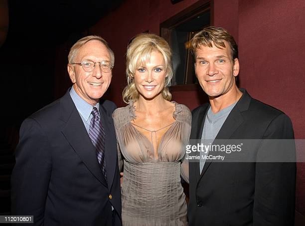 David Kenin Alison Doody and Patrick Swayze during 'King Solomon's Mines' Premiere at Tribeca Grand Hotel in New York City New York United States