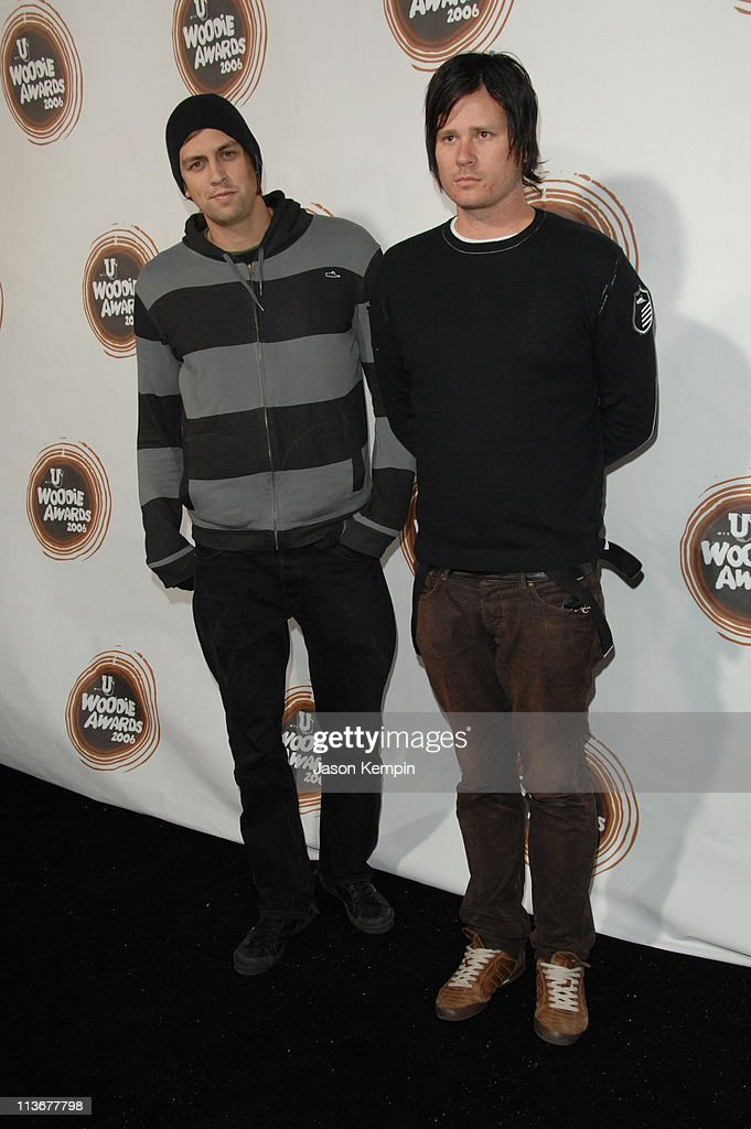 David Kennedy and Tom DeLonge during 2006 mtvU Woodie Awards - Arrivals at Roseland Ballroom in New York City, New York, United States.