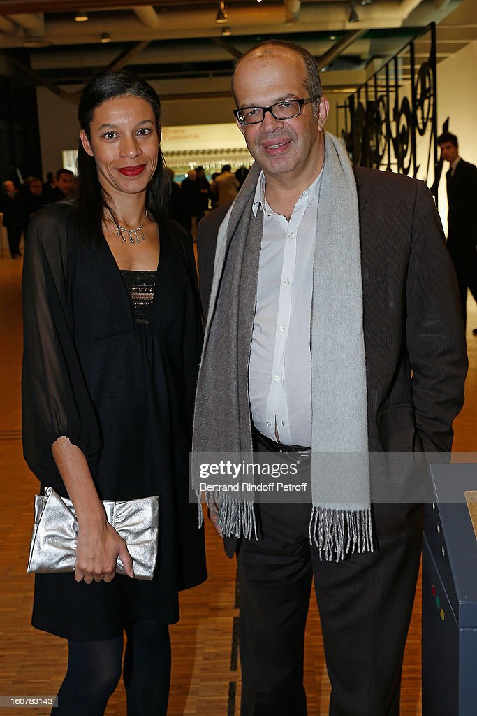 David Kessler, Media and Culture advisor to French President Francois Hollande (R), and Aline Sylla-Walbaum attend the 8th Annual Dinner of the 'Societe Des Amis Du Musee D'Art Moderne' at Centre Pompidou on February 5, 2013 in Paris, France.