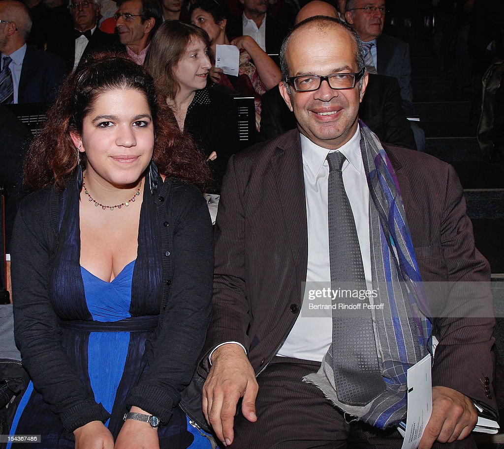 David Kessler (R), Media and Culture advisor to the French President, and his daughter Anna attend AROP Gala Dinner on October 18, 2012 in Paris, France.