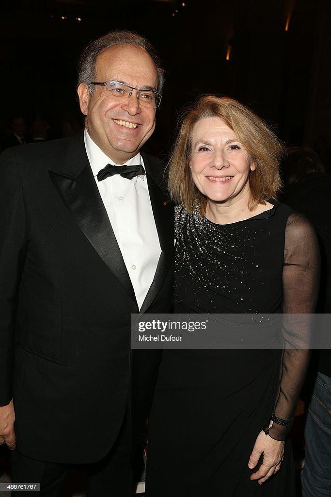 David Khayat and Catherine Pegard attend the David Khayat Association 'AVEC' Gala Dinner on February 3 2014 in Versailles France