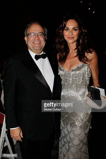 David Khayat and Tasha Vasconcelos attend the David Khayat Association 'AVEC' Gala Dinner at Chateau de Versailles on January 30 2012 in Versailles...
