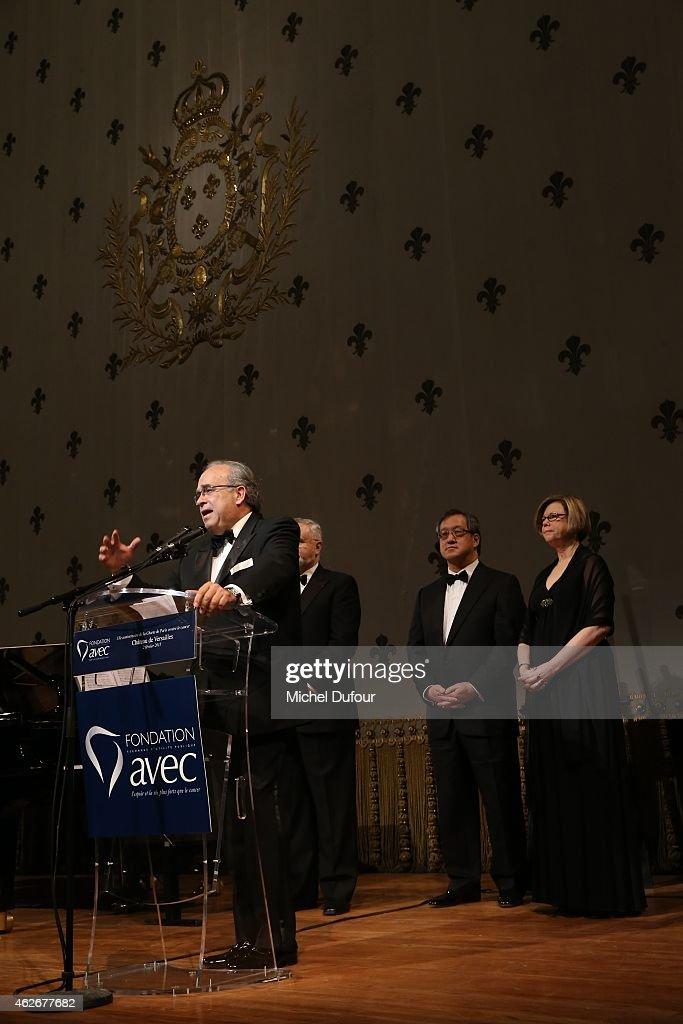 David Khayat attends the David Khayat 'Fondation Avec' Gala Dinner In Versailles on February 2 2015 in Versailles France