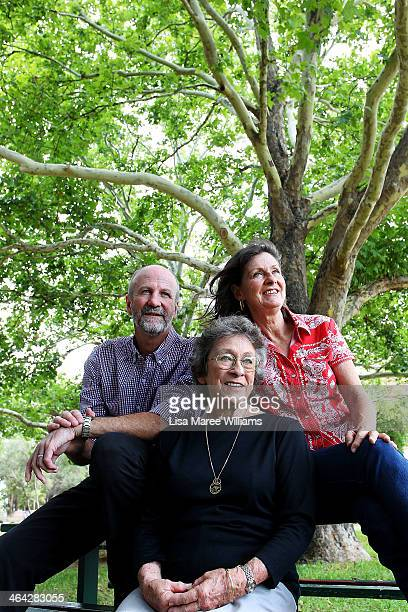 David Kirkpatrick Joy McKean and Anne Kirkpatrick pose during a press conference on January 22 2014 in Tamworth Australia The Slim Dusty Tribute...