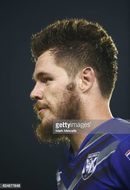 David Klemmer of the Bulldogs looks on during the NRL Trial match between the Canterbury Bulldogs and the Penrith Panthers at Belmore Sports Ground...