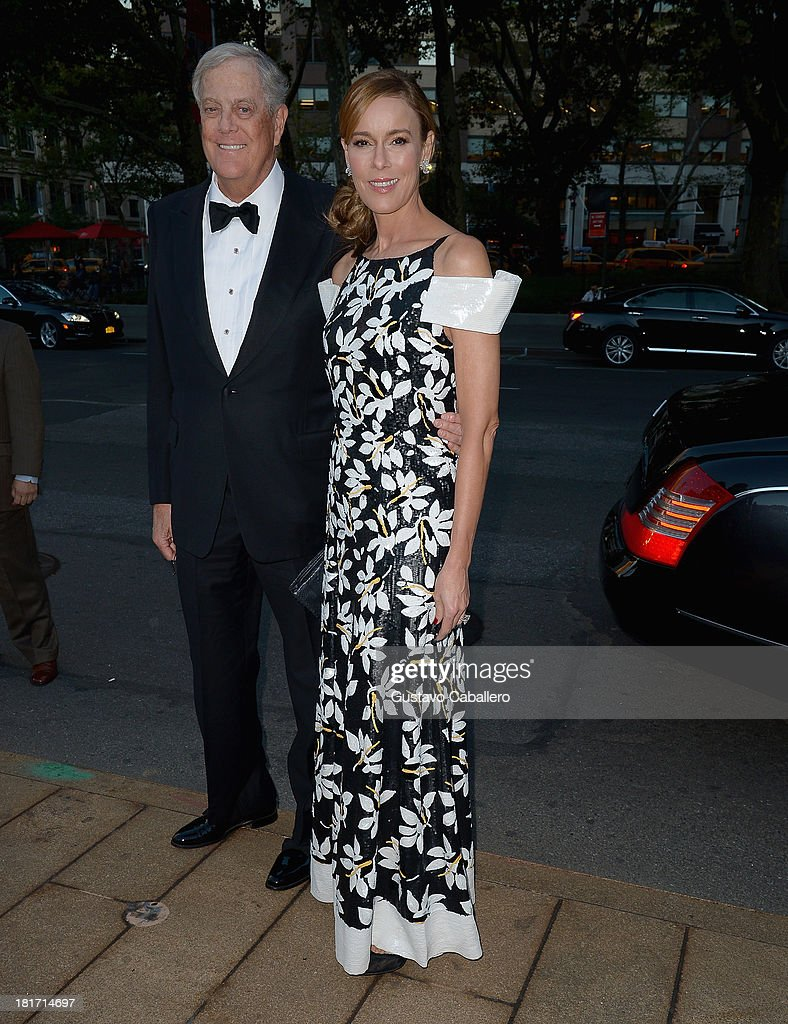 David Koch and Julia Koch is seen New York on September 23, 2013 in New York City.