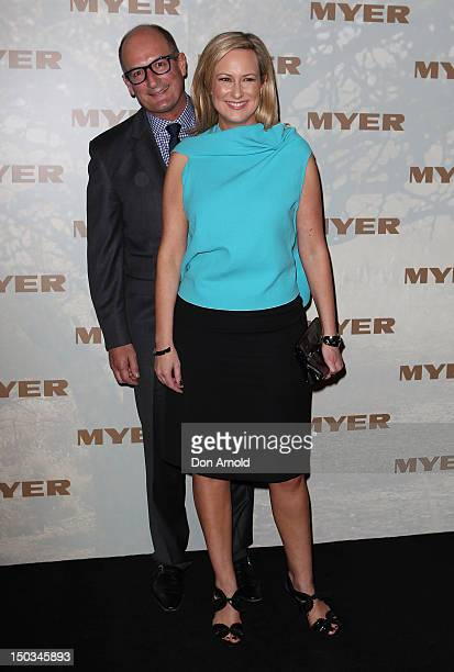 David Koch and Melissa Doyle pose during the MYER Spring Summer 2013 Launch at Hordern Pavilion on August 16 2012 in Sydney Australia