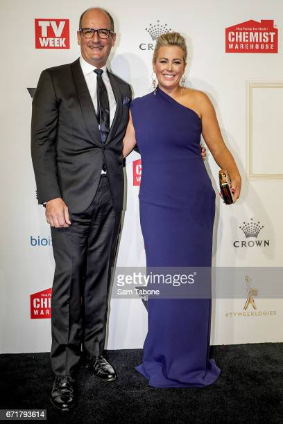 David Koch and Samantha Armytage arrives at the 59th Annual Logie Awards at Crown Palladium on April 23 2017 in Melbourne Australia