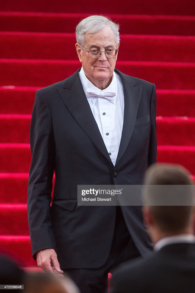 David Koch attends the 'China Through The Looking Glass' Costume Institute Benefit Gala at Metropolitan Museum of Art on May 4 2015 in New York City