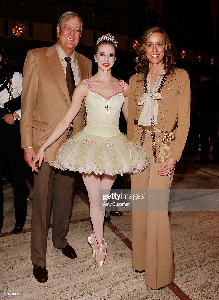David Koch, NYCB Sterling Hyltin and Julia Koch attend the New York City Ballet & the School of American Ballet's The Nutcracker family benefit at the David H. Koch Theater, Lincoln Center on December 5, 2009 in New York City.