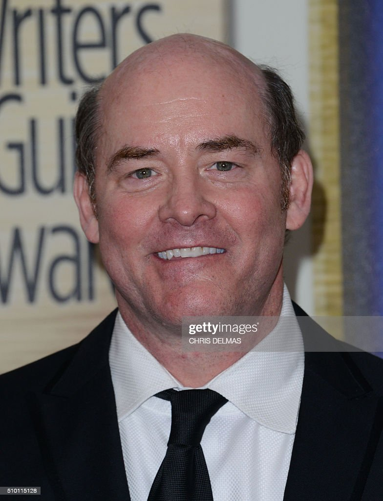 David Koechner poses in the press room at the Writers Guild Awards in Century City, California, February 13, 2016 / AFP / CHRIS DELMAS