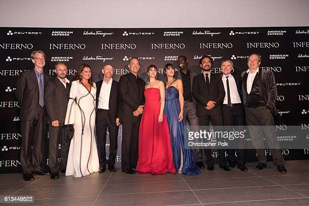 David Koepp Ben Foster Sidse Babett Knudsen Ron Howard Tom Hanks Felicity Jones Ana Ularu Omar Sy Irrfhan Khan Dan Brown and Hans Zimmer attend the...