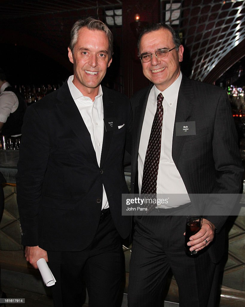 David Kohl and Bob Liodice attend the ANA Board Dinner Presented By VEVO at The Darby on February 12, 2013 in New York City.