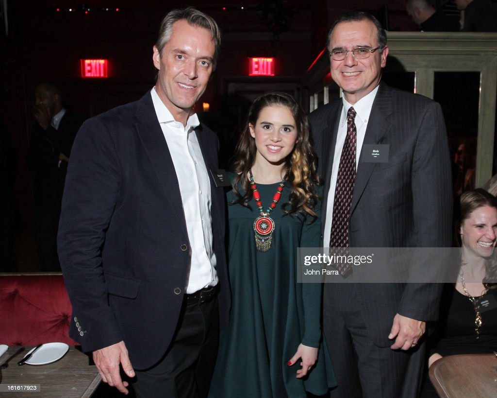 David Kohl, Carly Rose Senenclar and Bob Liodice attend the ANA Board Dinner Presented By VEVO at The Darby on February 12, 2013 in New York City.