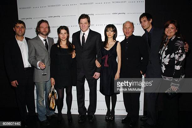 David Koplan Dallas Roberts Zooey Deschanel Adam Rapp Zooey Deschanel Ed Harris Rob Beitzel and Jenn Dana attend THE CINEMA SOCIETY  HUGO...
