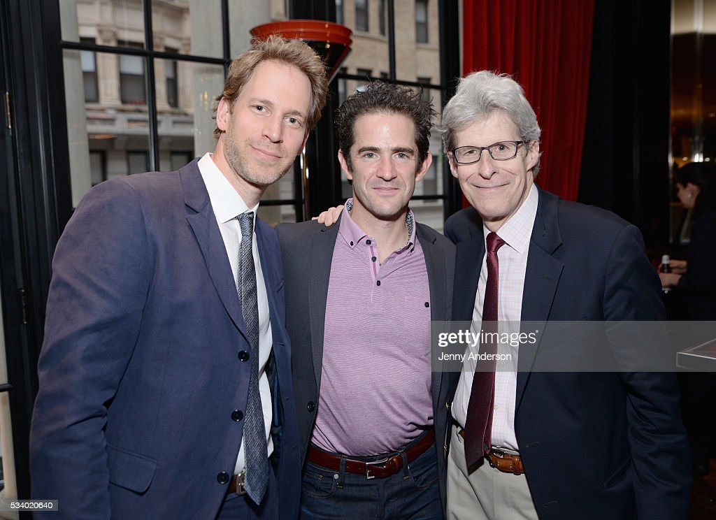 David Korins, Andy Blankenbuehler, and Ted Chapin attend A Toast To The 2016 Tony Awards Creative Arts Nominees at The Lambs Club on May 24, 2016 in New York City.