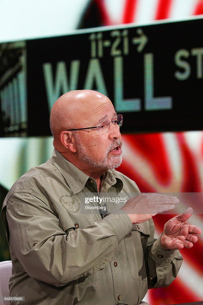 David Kotok, chairman and chief investment officer at Cumberland Advisors, speaks during a Bloomberg Television interview in New York, U.S., on Monday, June 27, 2016. Kotok discussed the impact of the Brexit decision on the markets and what investors need to know to navigate the volatility. Photographer: Chris Goodney/Bloomberg via Getty Images