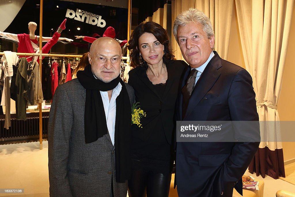 David Kramberg, Gerit Kling and Alessandro Bastagli (CEO - Dimensione Danza) attend 'Dimensione Danza' - Berlin store opening on March 8, 2013 in Berlin, Germany.