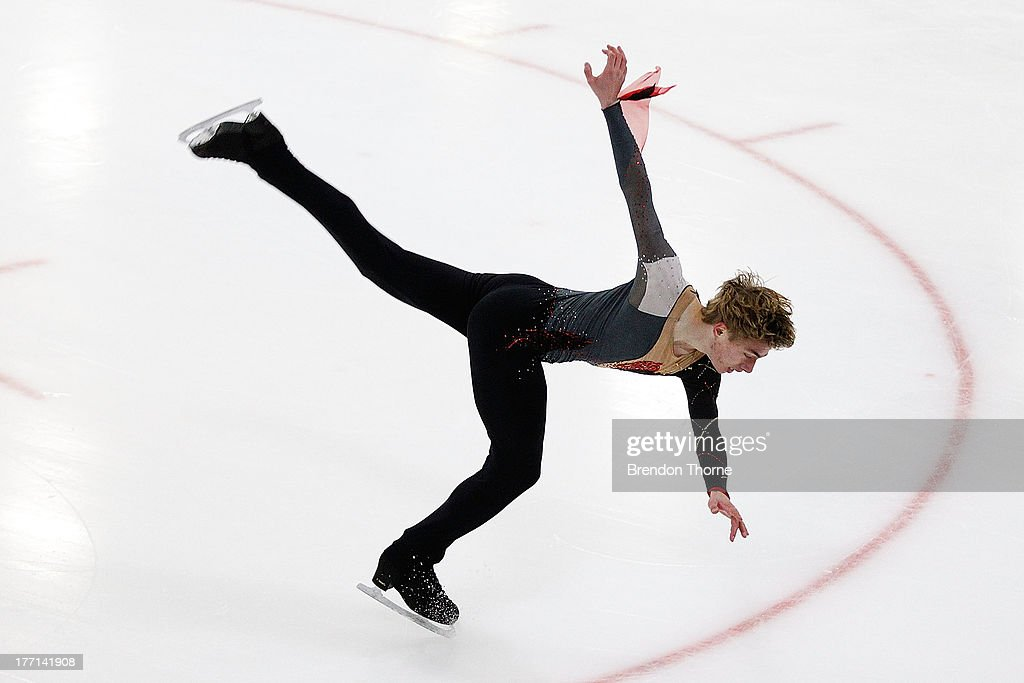 David Kranjec of Australia competes in the Senior Mens Short Program during Skate Down Under at Canterbury Olympic Ice Rink on August 21, 2013 in Sydney, Australia.