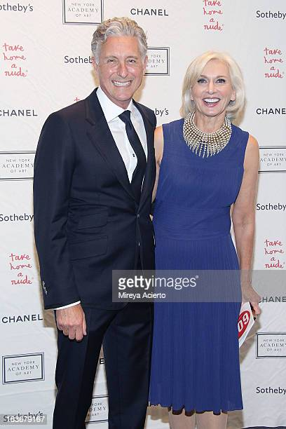 David Kratz and Eileen Guggenheim attend the 2013 'Take Home A Nude' Benefit Art Auction And Party at Sotheby's on October 8 2013 in New York City