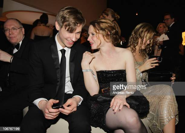 David Kross and Karoline Herfurth attend the Bambi 2010 Award After Show Party at Filmpark Babelsberg on November 11 2010 in Potsdam Germany