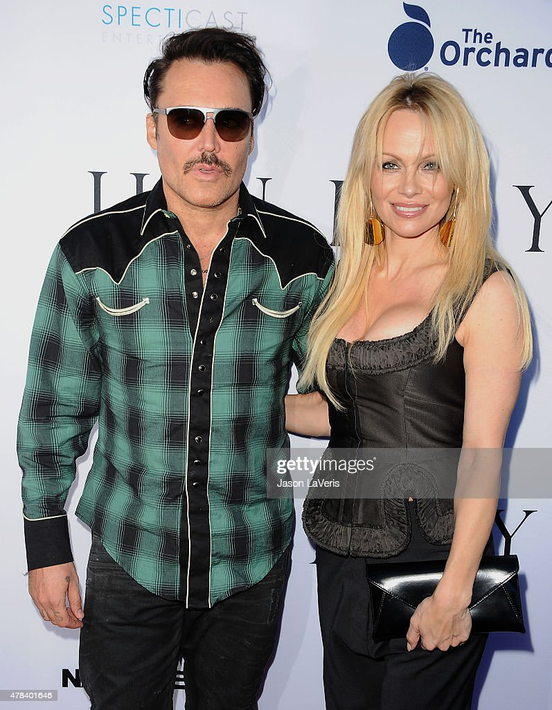 David LaChapelle and Pamela Anderson attend the world premiere screening of 'Unity' at DGA Theater on June 24, 2015 in Los Angeles, California.