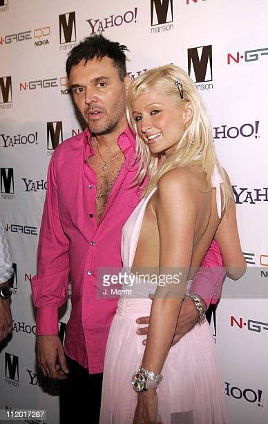 David LaChapelle and Paris Hilton during Paris Hilton Record Release Party at Mansion at Mansion in Miami California United States