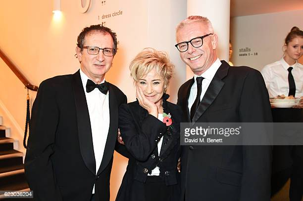 David Lan Zoe Wanamaker and Stephen Daldry attend a cocktail reception at The 62nd London Evening Standard Theatre Awards recognising excellence from...