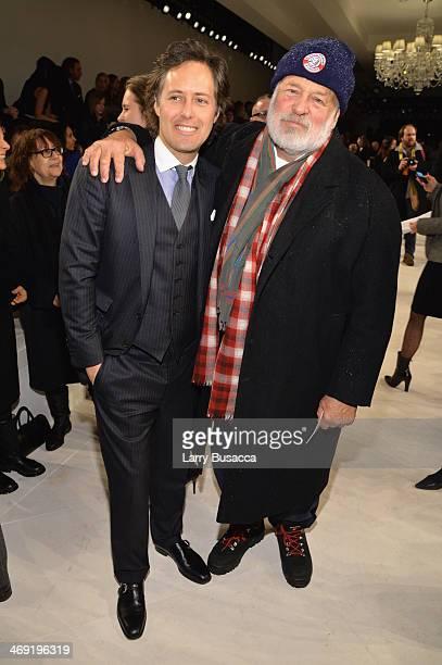 David Lauren and photographer Bruce Weber attend the Ralph Lauren fashion show during MercedesBenz Fashion Week Fall 2014 at St John Center Studios...