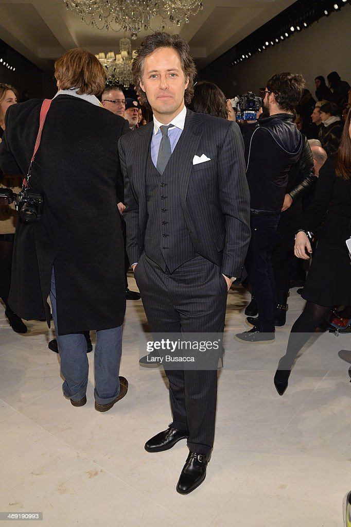 <a gi-track='captionPersonalityLinkClicked' href=/galleries/search?phrase=David+Lauren&family=editorial&specificpeople=234832 ng-click='$event.stopPropagation()'>David Lauren</a> attends the Ralph Lauren fashion show during Mercedes-Benz Fashion Week Fall 2014 at St. John Center Studios on February 13, 2014 in New York City.