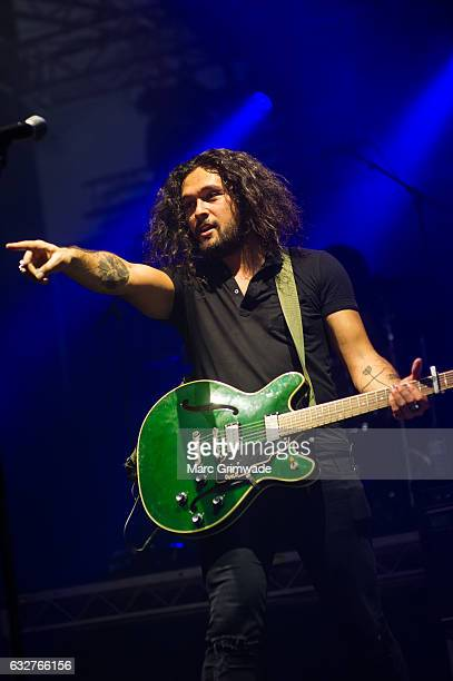 David Leaupepe of Gang of Youths performs at St Jerome's Laneway Festival on January 26 2017 in Brisbane