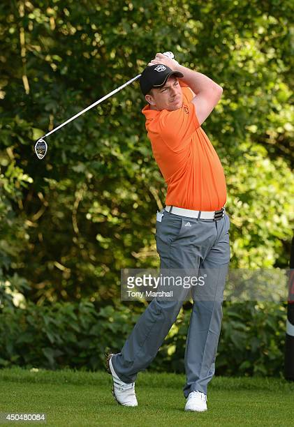 David Lee of Affordable Golf plays his first shot on the 10th Tee during the second round of the Powerade PGA Assistants' Championship Final at The...