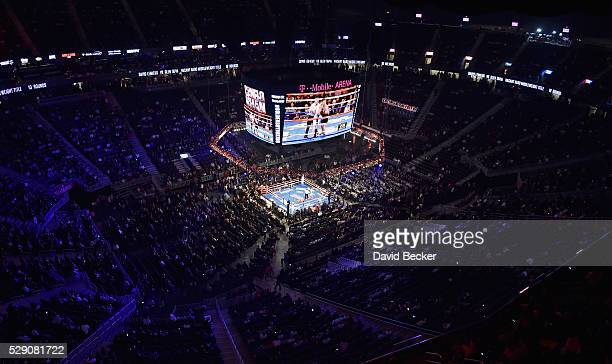 David Lemieux and Glen Tapia fight during their NABO middleweight title fight at TMobile Arena on May 7 2016 in Las Vegas Nevada Lemieux won by a TKO