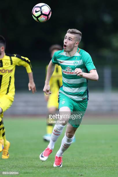 David Lennart Philipp of Bremen in action during B Juniors German Championship Semi Final between Werder Bremen and Borussia Dortmund on June 7 2017...