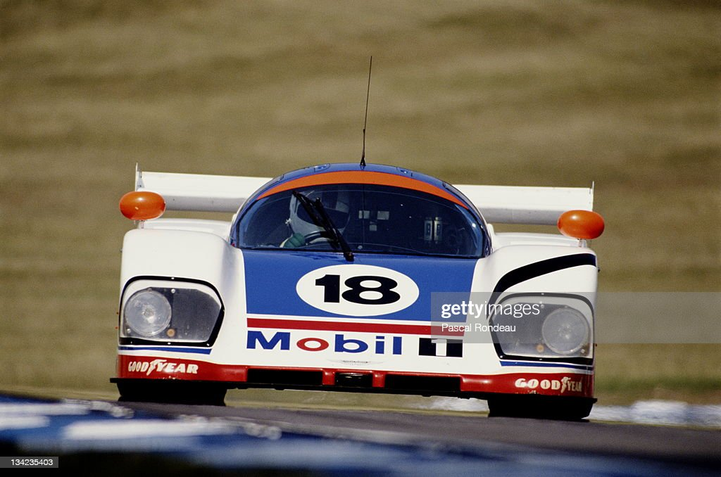 David Leslie of Great Britain drives the #18 Mobil 1 Aston Martin AMR1during the FIA World Sportscar Prototype Championship 1000 kms of Brands Hatch on 23rd July 1989 at Brands Hatch Circuit in West Kingsdown, Kent, England.