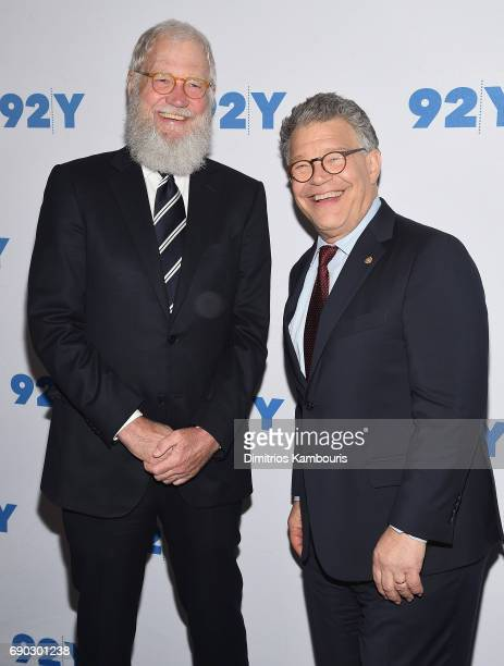 David Letterman and Al Franken attend The 92nd Street Y Conversation with Senator Al Franken and David Letterman at 92nd Street Y on May 30 2017 in...