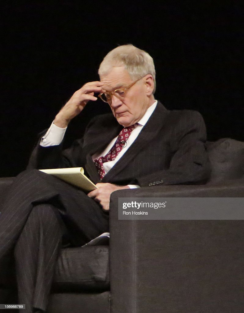 David Letterman attends 'A Conversation With David Letterman And Oprah Winfrey' at Ball State University on November 26, 2012 in Muncie, Indiana.