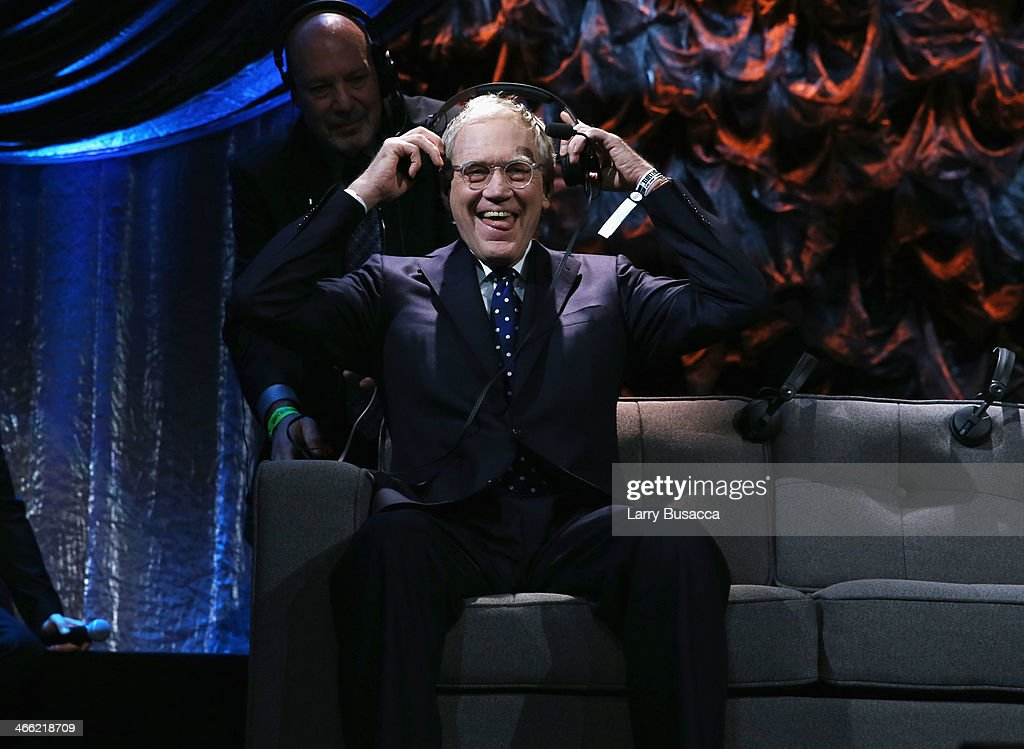 David Letterman attends 'Howard Stern's Birthday Bash' presented by SiriusXM, produced by Howard Stern Productions at Hammerstein Ballroom on January 31, 2014 in New York City.