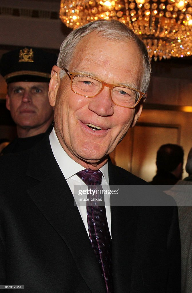 <a gi-track='captionPersonalityLinkClicked' href=/galleries/search?phrase=David+Letterman+-+Television+Host&family=editorial&specificpeople=171322 ng-click='$event.stopPropagation()'>David Letterman</a> attends the '700 Sundays' welcome back to Broadway at the Imperial Theatre on November 13, 2013 in New York City.