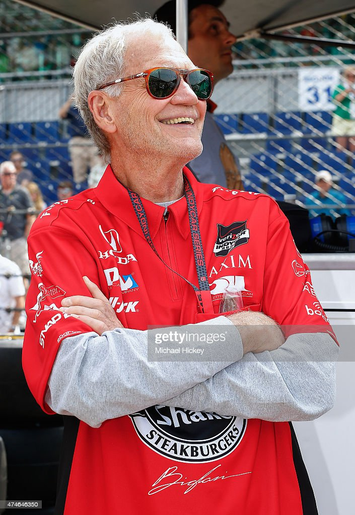 David Letterman attends the Indy 500 on May 23, 2015 in Indianapolis, Indiana.