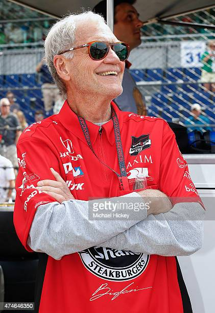 David Letterman attends the Indy 500 on May 23 2015 in Indianapolis Indiana