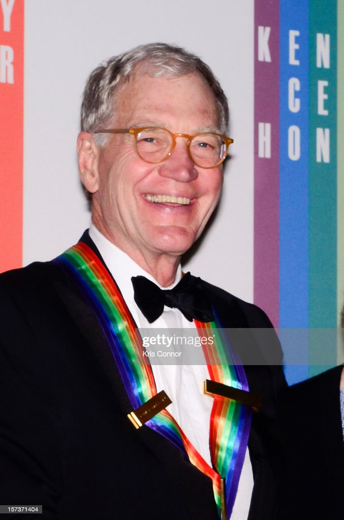 <a gi-track='captionPersonalityLinkClicked' href=/galleries/search?phrase=David+Letterman+-+Television+Host&family=editorial&specificpeople=171322 ng-click='$event.stopPropagation()'>David Letterman</a> poses for photographers during the 35th Kennedy Center Honors at the Kennedy Center Hall of States on December 2, 2012 in Washington, DC.