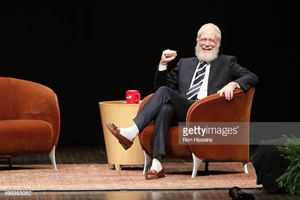 David Letterman speaks at Emens Auditorium on the campus of Ball State University Letterman's alma mater on November 30 2015