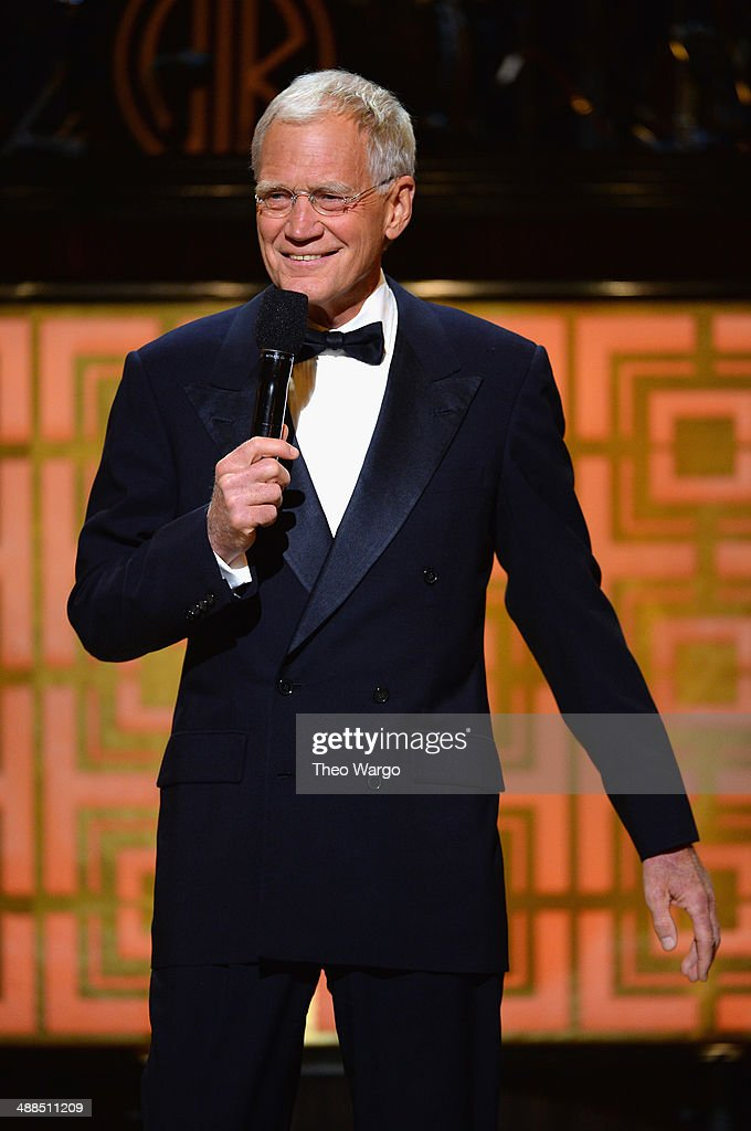 <a gi-track='captionPersonalityLinkClicked' href=/galleries/search?phrase=David+Letterman+-+Television+Host&family=editorial&specificpeople=171322 ng-click='$event.stopPropagation()'>David Letterman</a> speaks onstage at Spike TV's 'Don Rickles: One Night Only' on May 6, 2014 in New York City.